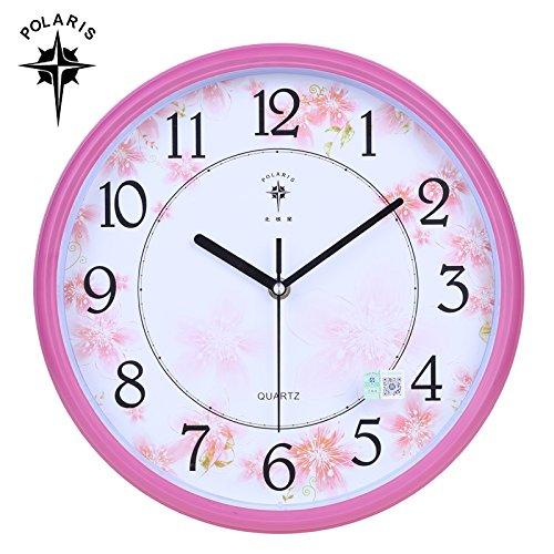 LQXZM - Mute Cartoon Clocks Zimmer Schlafzimmer trendige Wanduhr Uhr kreative Wand Wohnzimmer Wanduhr Kinder Uhr - Tabelle B