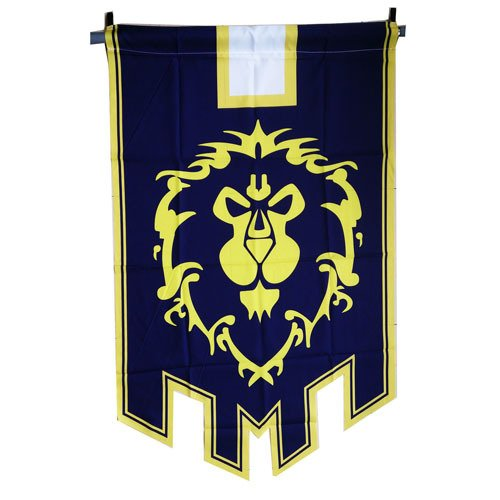 World of Warcraft WoW Flagge Allianz oder Horde Banner WoW Fahne 60x95cm (Allianz)