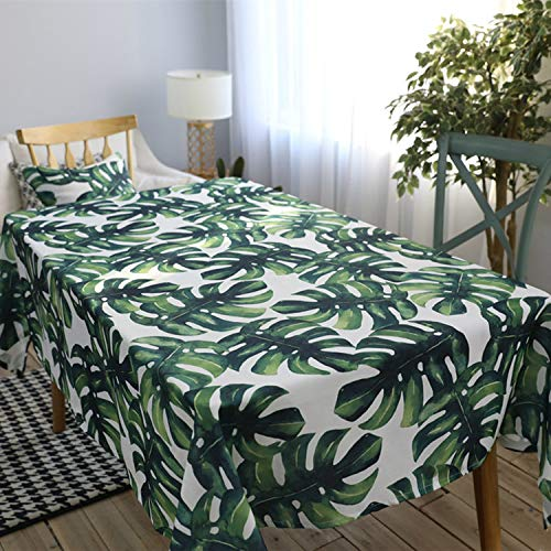 wzwlh Green Big Leaves Tablecloth Cover Toalha De Mesa Nappe Rectangulaire Concise Manteles para Mesa Tafelkleed100*140 - La Mesa Möbel