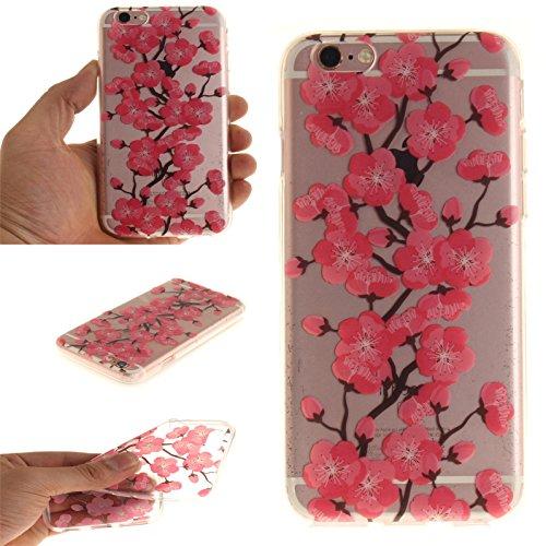 Voguecase® für Apple iPhone 7 Plus 5.5 hülle, Schutzhülle / Case / Cover / Hülle / TPU Gel Skin (Pflaumen 16) + Gratis Universal Eingabestift Pfirsichblüte 08