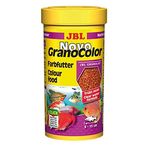 JBL NovoGranoColor 250ml REFILL - Aliment de base pour poissons d'aquarium hauts en couleurs de moyenne et grande taille