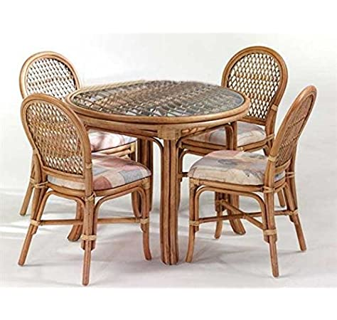 Cane World Standard Dining Set 4 Chair 1 Center Table Amazon In Home Kitchen