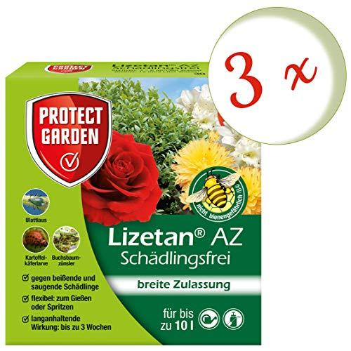 Oleanderhof® Sparset: 3 x SBM Protect Garden Lizetan® AZ Schädlingsfrei, 30 ml - der Calypso Nachfolger + gratis Oleanderhof Flyer