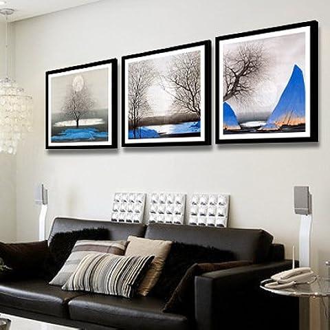 El salón está decorado en un moderno estilo sofás imagen de fondo sin animación de cuadros murales Shanshui imagen colgando adheridos el restaurante murales abstractos, Quiet Nights -d