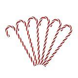 Leisial 6 Stücke Rot Weiß Zuckerstangen Kunststoff Weihnachtsbaum Ornament Zuckerstangen Weihnachtsbaum Zuckerstangen Deko Weihnachtsbaum Anhänger 15CM