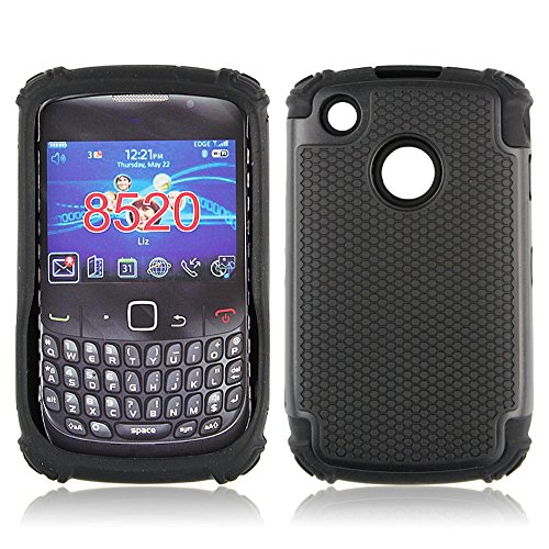 Bracevor Triple Layer Defender Back Case Cover for Blackberry Curve 8520 (Black Hybrid Shell)  available at amazon for Rs.399