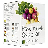 Psychedelic Salad Kit by Plant Theatre - 5 Fantastic Salad Vegetables to Grow - Great Gift