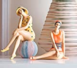 Powzz ornament Mode Badenixe Einrichtung Wohnzimmer Ornament Tabelle Figuren Home Decor Geburtstag Geschenk Set Mit 2,15,6 Cml X 9.2Cm W X 14 Cmh