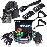 TheFitLife oefen- en weerstandsbandenset, combineerbaar tot 50 kg, trainingsslangen voor hals- en openluchtsport, fitness, h