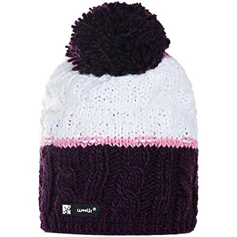 4sold Hombres Unisex del invierno gorro de lana de las mujeres Pom Beanie sombreros desgarbado Snowstar fácil (parpadeo 145) cráneo (coral 137)