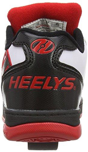 Heelys - Propel 2.0 770599, Scarpe con 2 rotelle Bambino Multicolore (White/Black/Red)