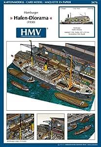 Hmv 3476papermodel Harbor Diorama Hambourg
