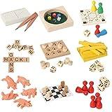 Bartl 111021 9 Knobelspiele aus Holz und Metall Sortiert im Spar-Knobel-Pack für Erwachsene und Kinder