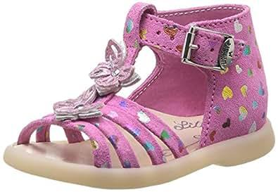 Little Mary Passion, Chaussures premiers pas bébé fille - Rose (Cœur Sorbet), 20 EU