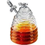 Honey Bees Pot à miel en verre