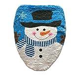 CAOLATOR Fodere di Natale DI Copri WC Bagno Decorazione Pupazzo Di Neve Wc Sedile coprire Fodere Natale