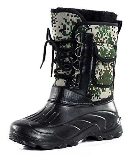 AgeeMi Shoes Hombre Impermeable Tela Cordones Plano