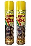 2 x 400ml karipol Multi Kriech-ÖL-Spray, ÖL-Spray, Fahrradöl, Feinmechaniköl