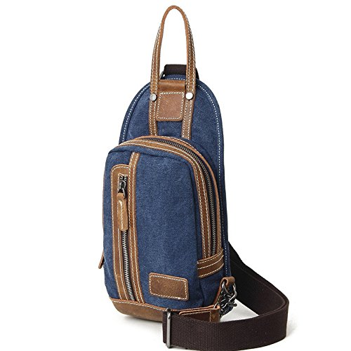 Mefly Retrò Spalla Singolo Incrociate In Diagonale Pack Borsa Con Croce Obliqua Pack Blu Royal Royal Blue