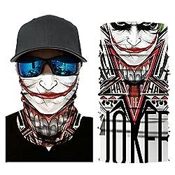 Jamicy 3D Joker Skull Pattern Mask Cycling Motorcycle Head Scarf Neck Warmer Face Mask Ski Balaclava Headband Sun Protection for Men Women from Jamicy_Mask