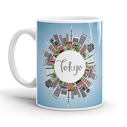 Preisvergleich Produktbild Tokio Skyline - Tasse / Becher