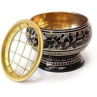 Räucherschale Räuchergefäß mit Netz Ø 9,5 cm x 7,5 cm aus Messing schwarz gold, Netzgefäß für Räucherkohle Räucherkegel... preisvergleich bei billige-tabletten.eu