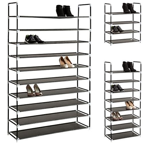 Opiniones tectake estanteria zapatero para calzado armario for Armario zapatero amazon