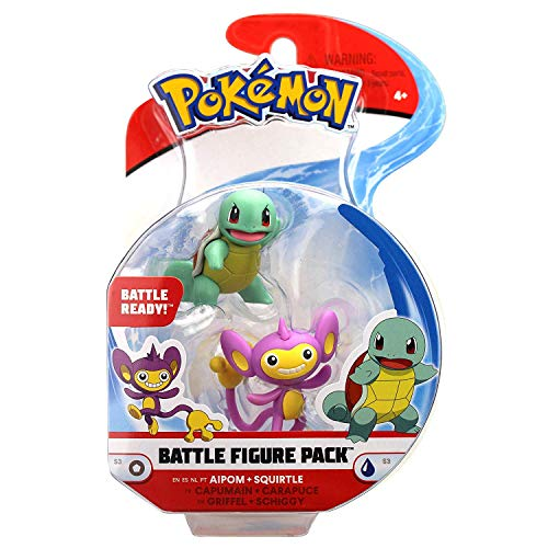 Pokémon Figure Battle Pack Aipom & Squirtle - Newest Edition 2019