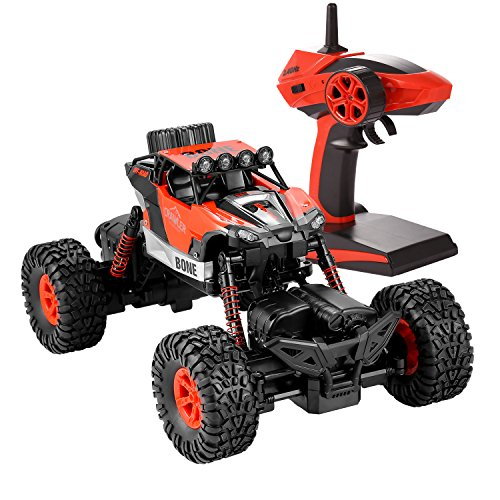 Profun 4WD Rock Crawler RC Radio Control Auto 2.4 Ghz 1:16 Offroad Auto Ferngesteuerte 4 Modus Lenkung and Super Wasserdichte Technologie RC Auto for Kinder und Erwachsene