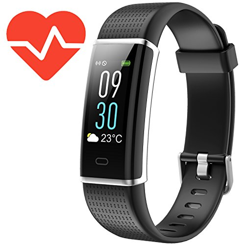 Kinbom Fitness Tracker Heart Rate Monitor Color Screen Smart Bracelet With Sleep Monitor Step Counter Message Reminder IP68 Waterproof Activity Tracker For AndroidiOS Smart Phone
