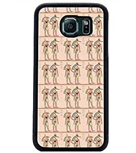 PrintDhaba Pattern D-5389 Back Case Cover for SAMSUNG GALAXY S6 EDGE (Multi-Coloured)
