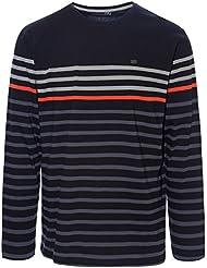 Ternua Olaf L/S M Camiseta, Hombre, Negro (Black Stripes), L