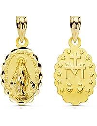 Medalla oro 18k Virgen Milagrosa 18mm. [AB0799]