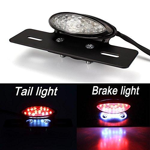Motocicleta LED Luz de Freno de Cola de Luz de Trasera de la Placa de Licencia Para Harley Honda Yamaha Bobber Atvs