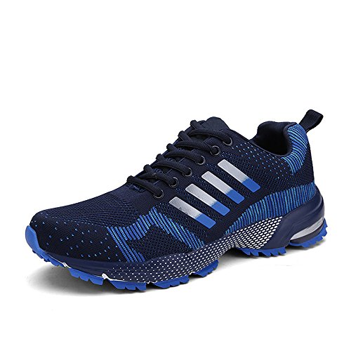 PAMRAY Scarpe Running Sportive Uomo Donna Sneakers Antiscivolo Confortevole Blu 41