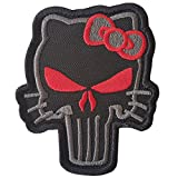 ACU Subdued Punisher Hello Kitty Morale Taktisch Tactical Stickerei Totenkopf Hook-and-Loop Aufnäher Patch