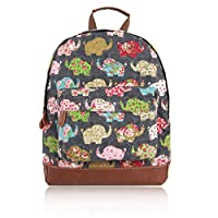 Craze London New Childrens Designer Style Canvas Unicorn Umberilla Anachor Elephant Rabbit Flower Critters Cat Whale Print Backpack Bag Kids Back to School Collection