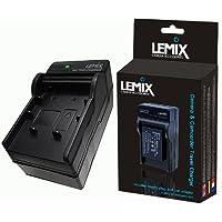 Lemix (VBK180) - Caricabatterie da viaggio per videocamere PANASONIC HC, HDC e SDR + adattatori UK/EU/USA e da auto.