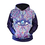 TCLY-FBY Purple God's Eye Sweater Autumn Winter Men's Large Size Loose Hoodie