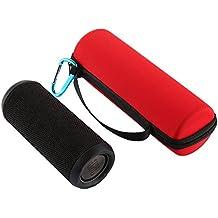 CAOLATOR Caso Viajar Caja de Almacenamiento,Portátil de Caja Protectora para JBL Flip 3 Sistema de Altavoces Bluetooth (Rojo)