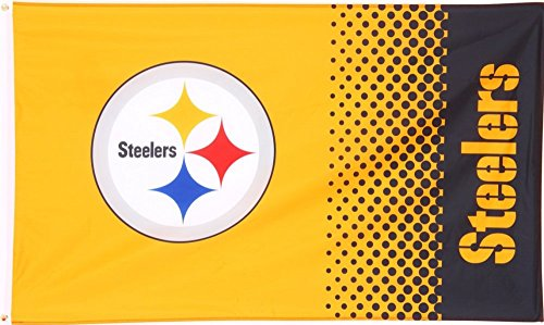 Flagge NFL Pittsburgh Steelers Fan - 90 x 150 cm, + gratis Aufkleber, Flaggenfritze®