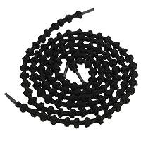 Kasstino 1Pair Elastic No Tie Shoelace For Trainer Triathlon Running Rope Round Knot 28