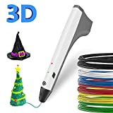 SUNLU 3D Pen Kids Drawing Doodling 3D Printing Pen Pencil Impresora inteligente PCL PLA filament Recargas mejor regalo para adolescentes y niños, color blanco