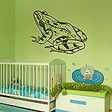 Toad Sitting Frog Tiere Wandtattoo-Kunst-Aufkleber Wandtattoo verfügbar in 5 Größen und 25 Farben Groß Basaltgrau
