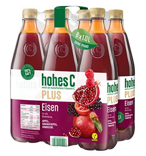 Hohes C Plus Eisen - 100 Prozent Saft, 6er Pack (6 x 1 l)