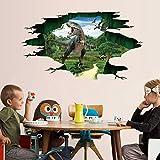 Fuibo 3D Dinosaurier Fußboden Wand Aufkleber Wohnzimmer Dekor entfernbare Wandabziehbild Vinyl