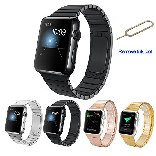 apple-watch-bandamytechr-42-mm-stainless-steel-replacement-smart-watch-band-link-bracelet-with-doubl