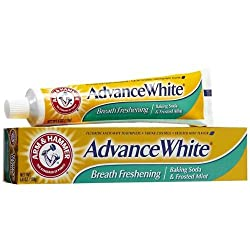 ARM & HAMMER Advance White Baking Soda Toothpaste, Frosted Mint 6 oz (Pack of 3)