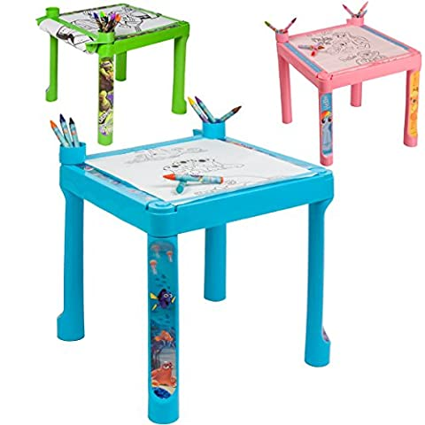 Disney Mal-Tisch My little Pony Kreativ-Set Spieltisch mit Schablonen und