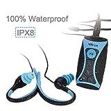 Schwimmen MP3-Player IPX8 Digitaler Unterwasser-Audioplayer mit langem Akku, Wasserdichten Kopfhörerkopfhörern und UKW-Radio, S1U, Walkercam